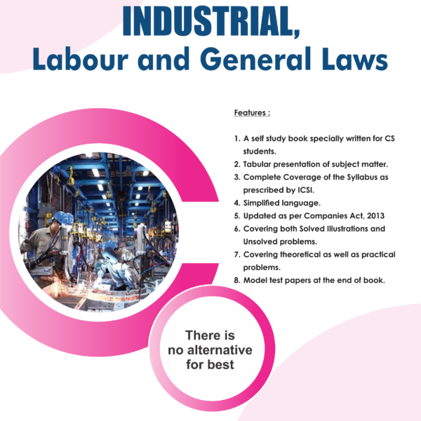 Aj publication CS Executive Industrial,Labour And General Laws By Himanshu Grover Applicable for June 2018 Exam