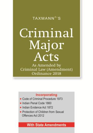 Criminal Major Acts As Amended by Criminal Law (Amendment) Ordinance 2018