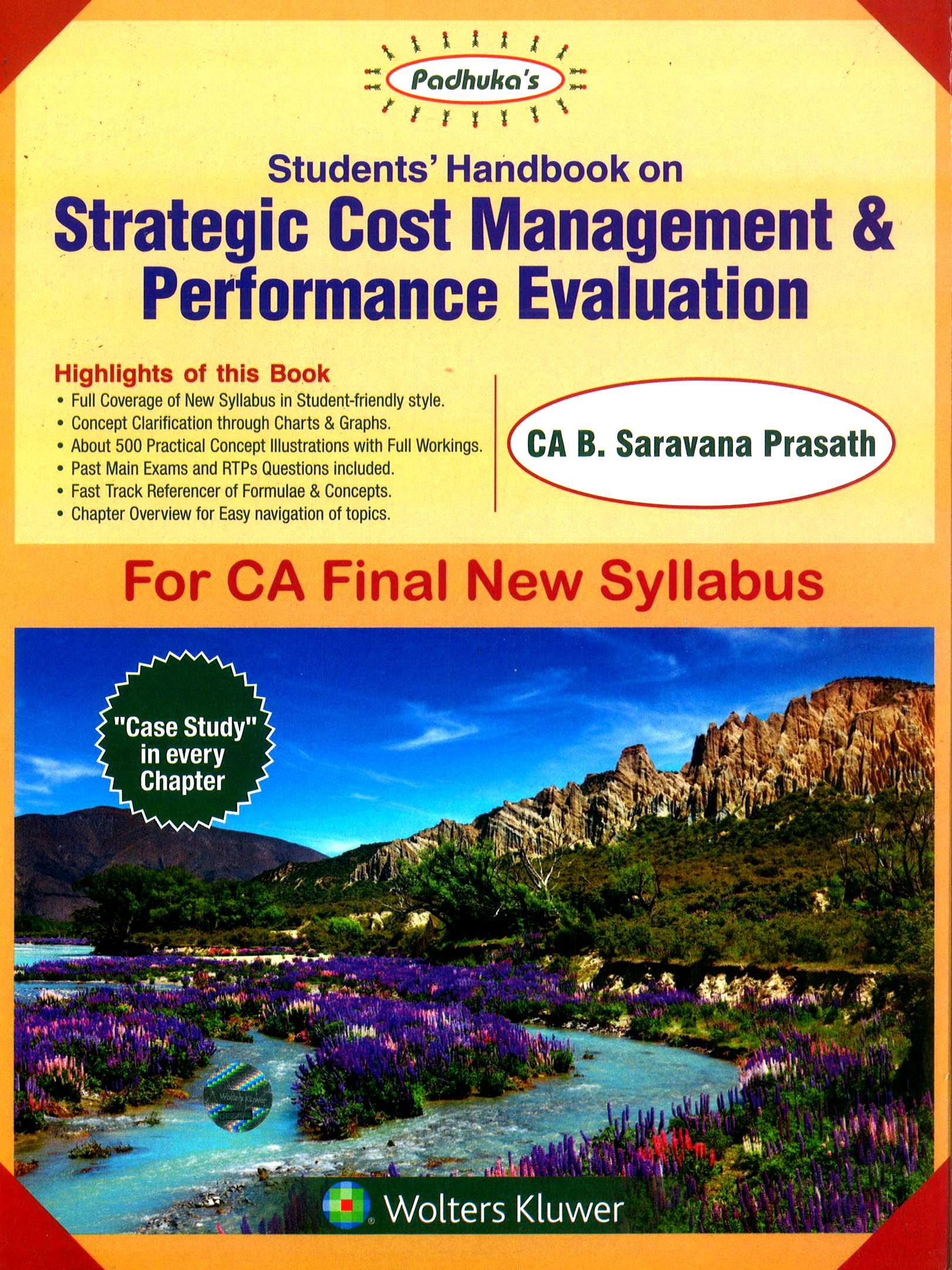 CCH Padhuka Students Handbook on Strategic Cost Management & Performance Evaluation for CA Final New Syllabus By B Saravana Prasath Applicable for November 2018 Exam Edition May 2018