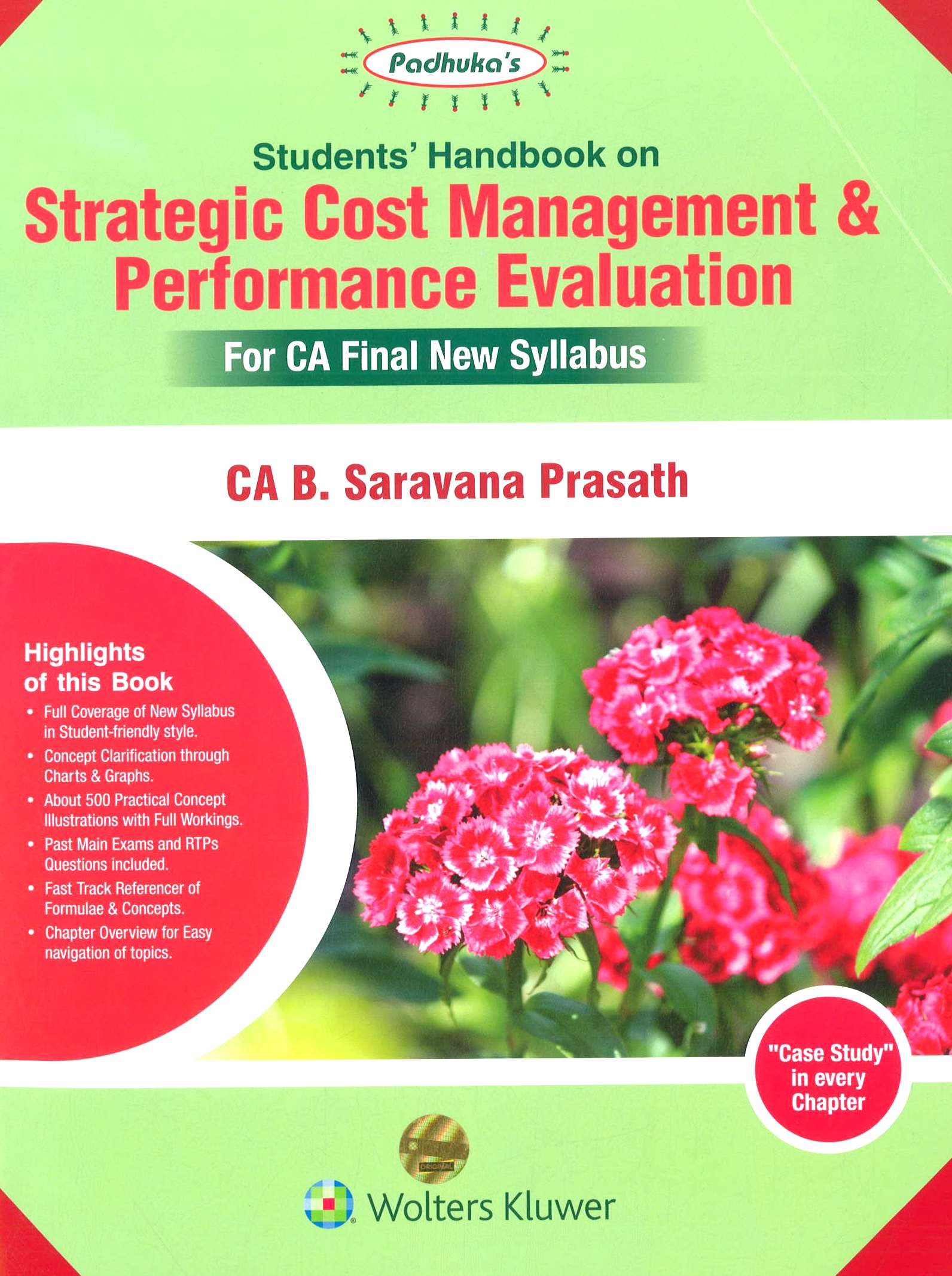 CCH Padhuka Students Handbook on Strategic Cost Management & Performance Evaluation for CA Final New Syllabus By B Saravana Prasath Applicable for November 2018 Exam Edition May 2020