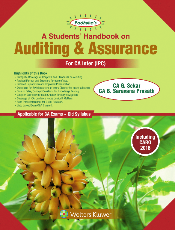 Padhuka's Students Handbook on Auditing & Assurance for CA Inter by G Sekar and Saravana Prasath Applicable for May 2019 Exams