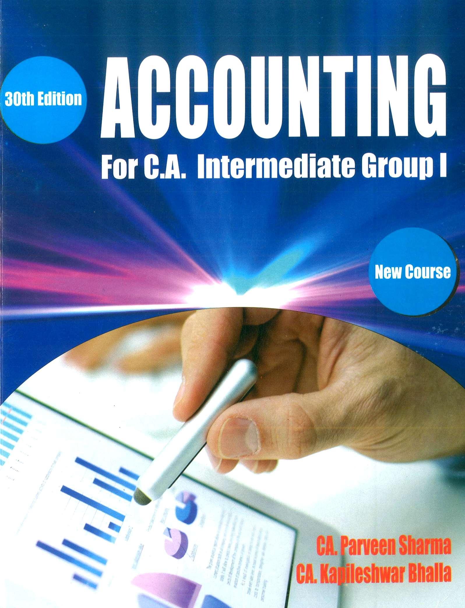 Pooja Law House CA Intermediate – Group I Accounting New Syllabus By CA Parveen Sharma & CA Kapileshwar Bhalla for Nov 2018 (Pooja Law House Publishing) for May June 2020 Exam