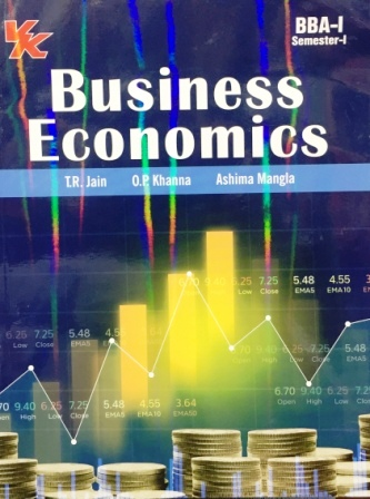 V K Publisher Business Economics  for B.B.A-I sem Punjab University for Dec 2018 Exam