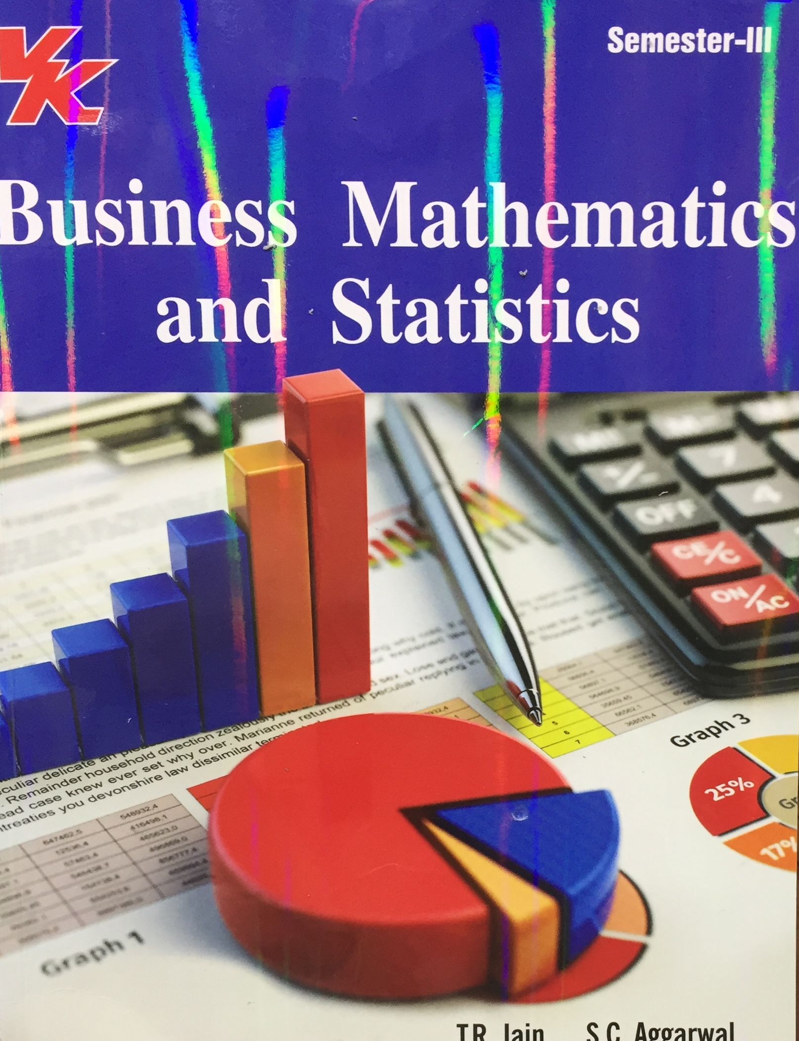 V K Publisher Business Mathematics and Statistics for B.Com-III Sem Punjab University 2018 edition (V K publishing) For Dec 2018 Exam