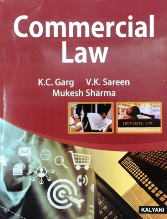 Kalyani Publisher's  Commercial Law for B.Com-I sem Punjab University for Dec 2018 Exam