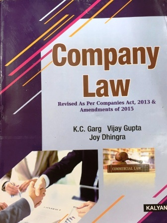 Kalyani Publisher's Company Law for B.Com-III Sem Punjab University 2018 edition For Dec 2018 Exam