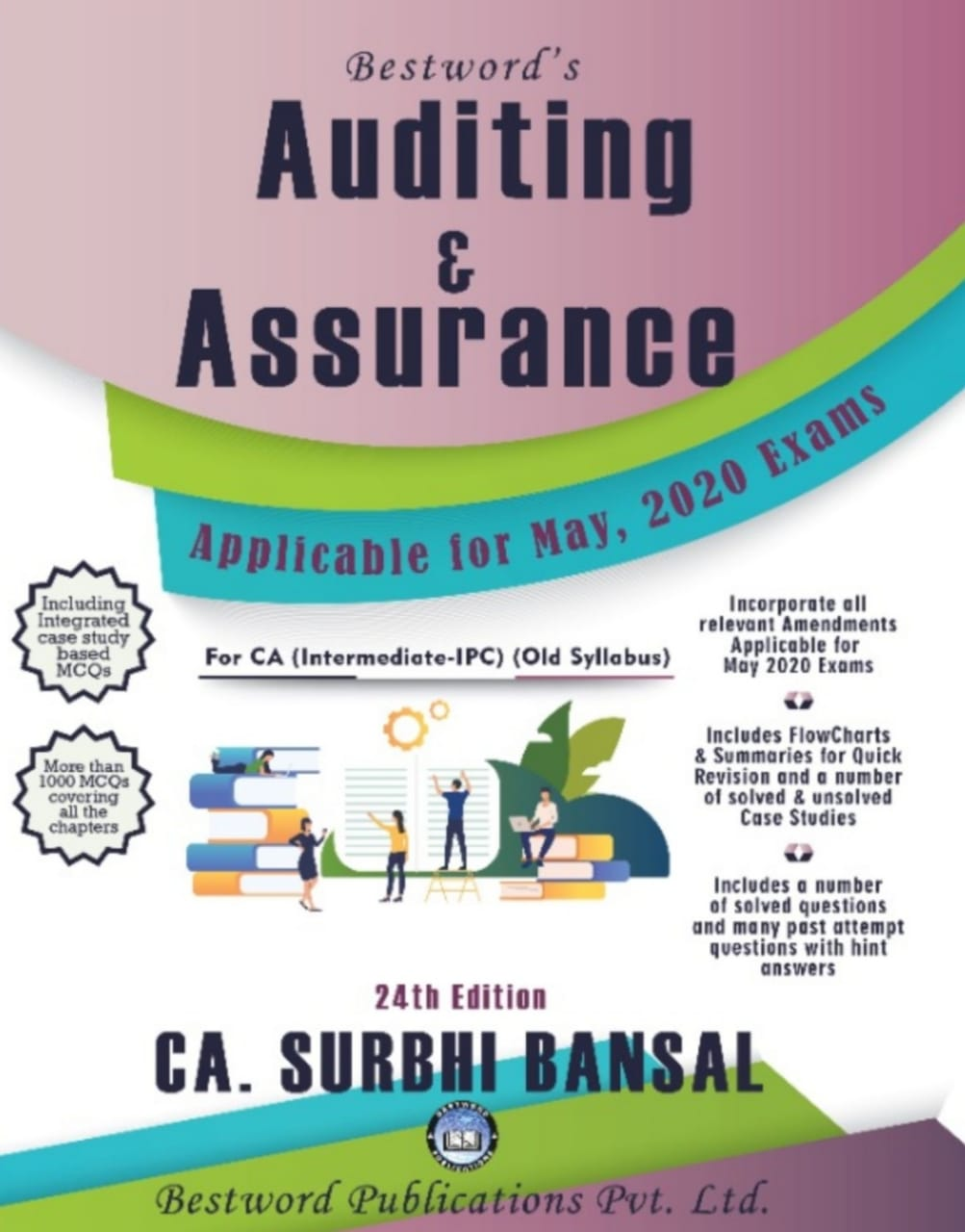 Bestword Auditing and Assurance for CA Intermediate (New Syllabus) by CA Surbhi bansal  for May, 2020 Exam