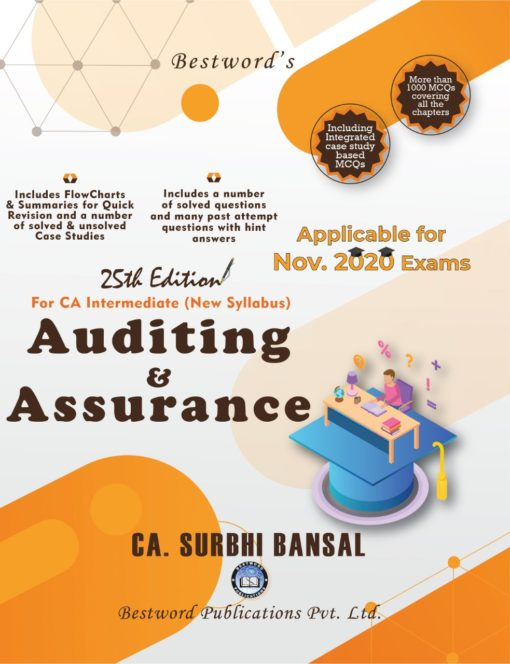 Bestword Auditing and Assurance for CA Intermediate (New Syllabus) by CA Surbhi bansal for November 2020 Exam