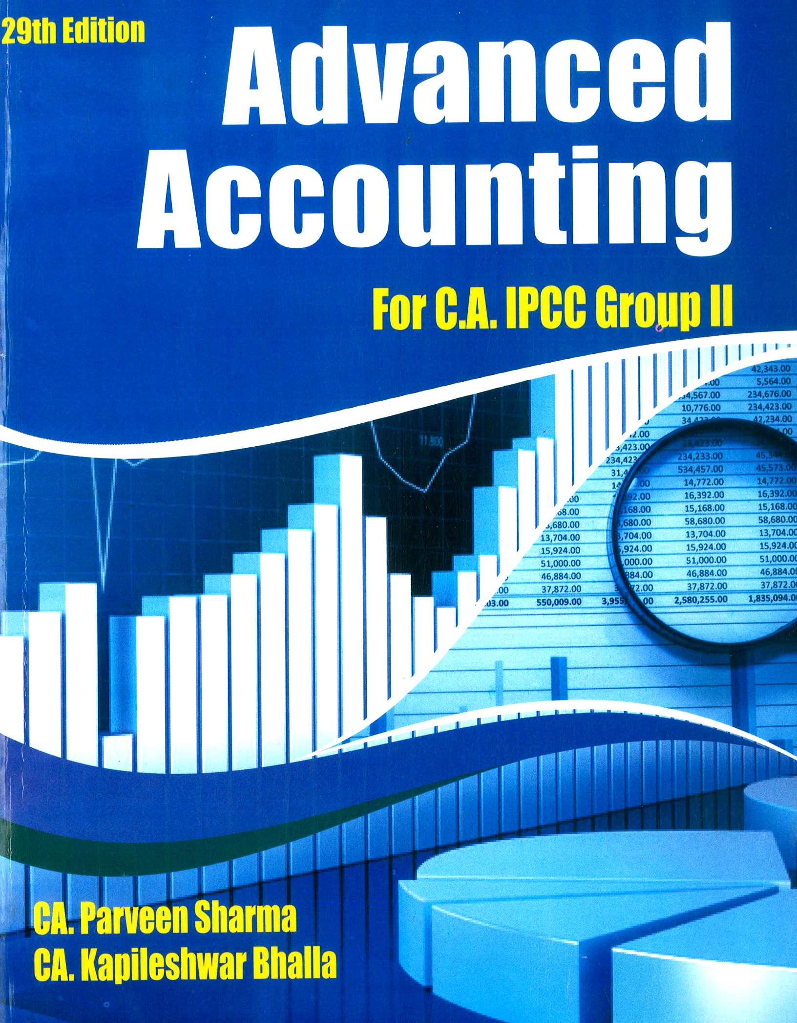 Pooja Law House Advanced Accounting including Accounting Standards for Nov 2018 (Old Course) for CA IPCC Group II by CA Parveen Sharma and CA Kapileshwar Bhalla (Pooja Law House Publishing) Edition 29th, 2018