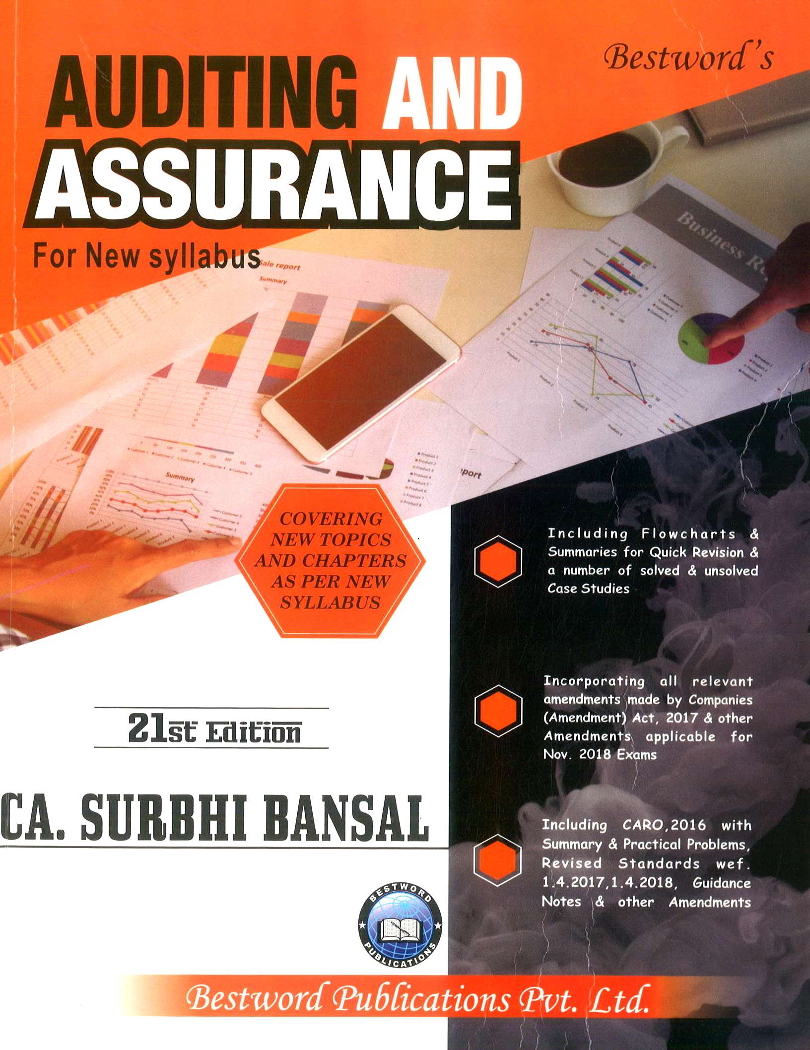 Bestword Auditing and Assurance for CA Intermediate (New Syllabus) by CA Surbhi bansal Edition 2018 for November 2018 Exam