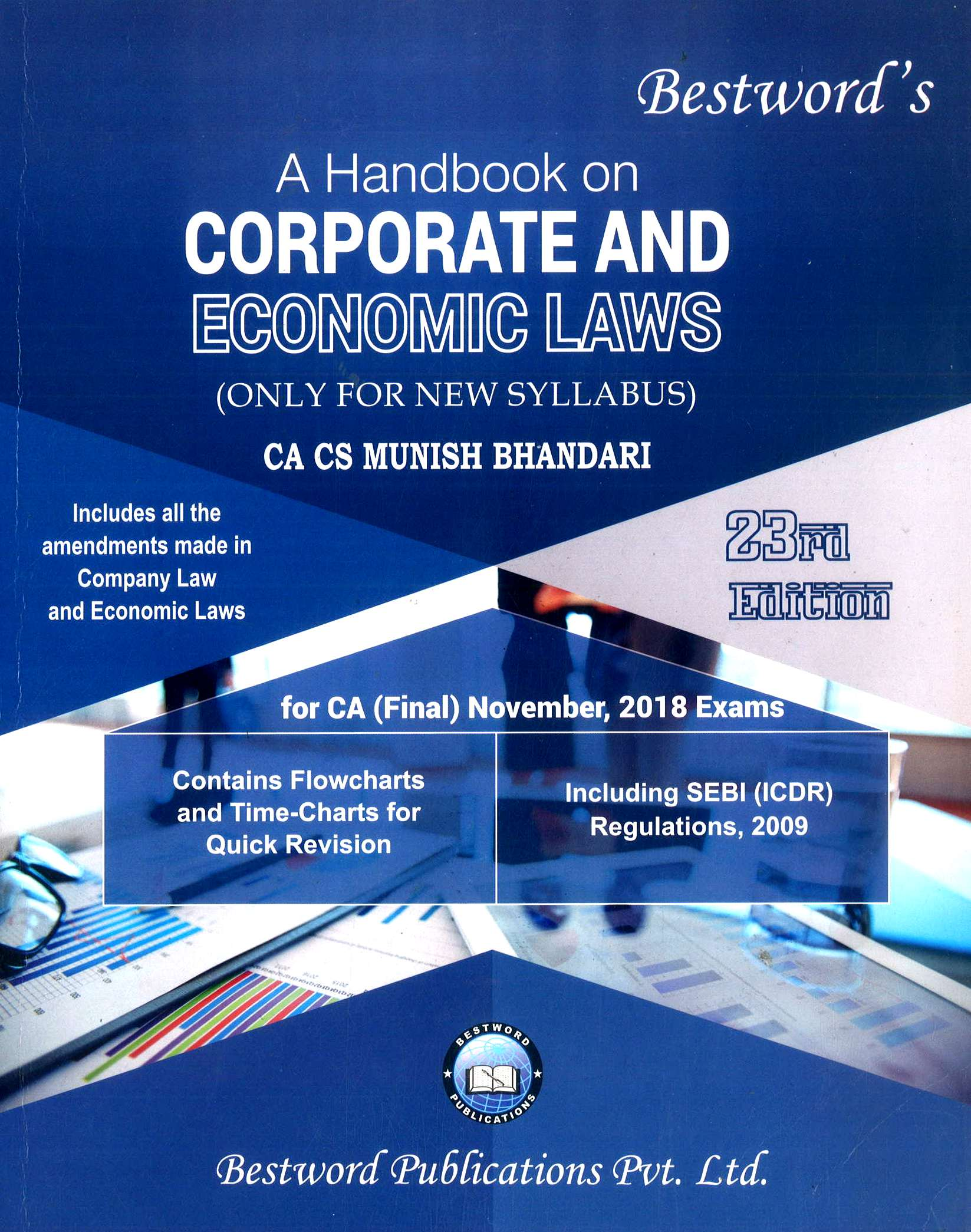 Bestword CA Final Handbook on Corporate and Economic Laws New Syllabus By Munish Bhandari Applicable for November 2018 Exam