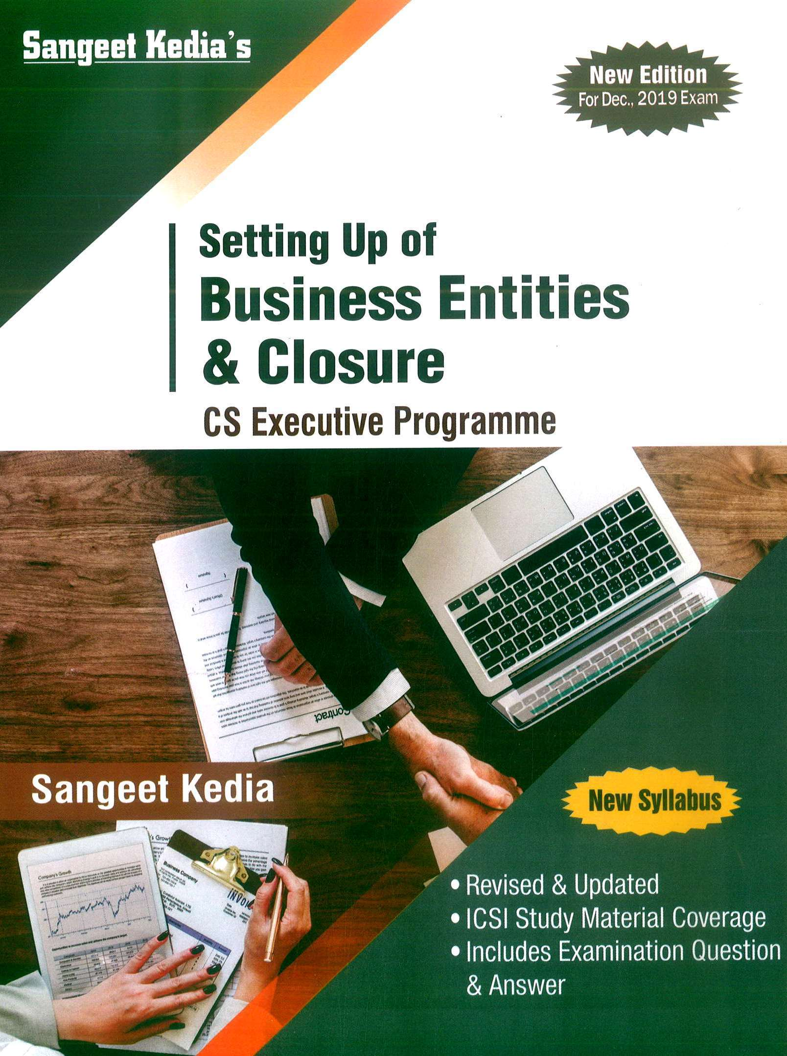 Pooja Law House CS Executive Setting Up Of Business Entities & Closure New Syllabus By Sangeet Kedia Applicable for December 2019 Exam
