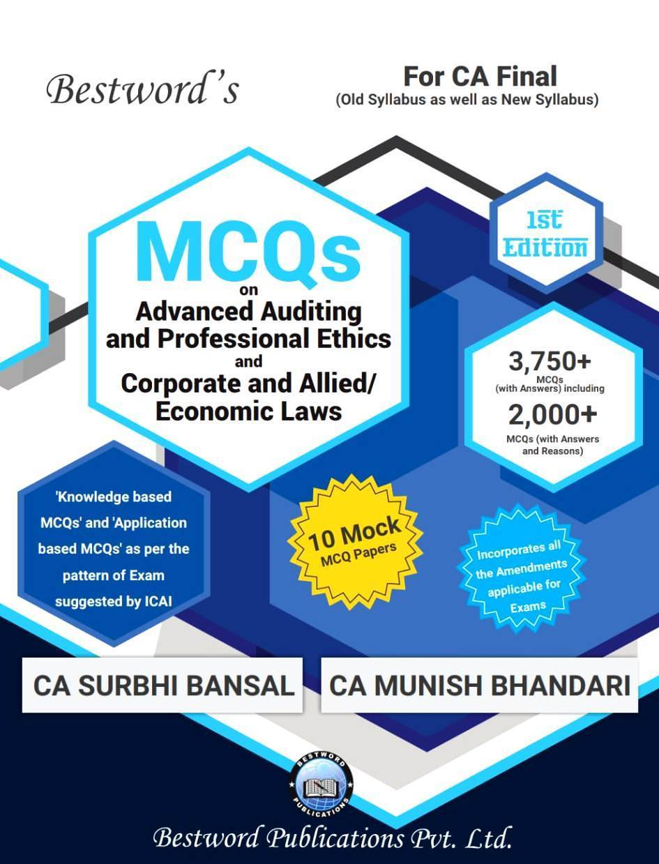 Bestword CA Final Law and Audit MCQ's old and New Syllabus By Surbhi Bansal , Munish Bhandari Applicable for May 2019 Exam