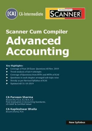 Taxmann Scanner Cum Compiler Advanced Accounting (New Syllabus) May 2020