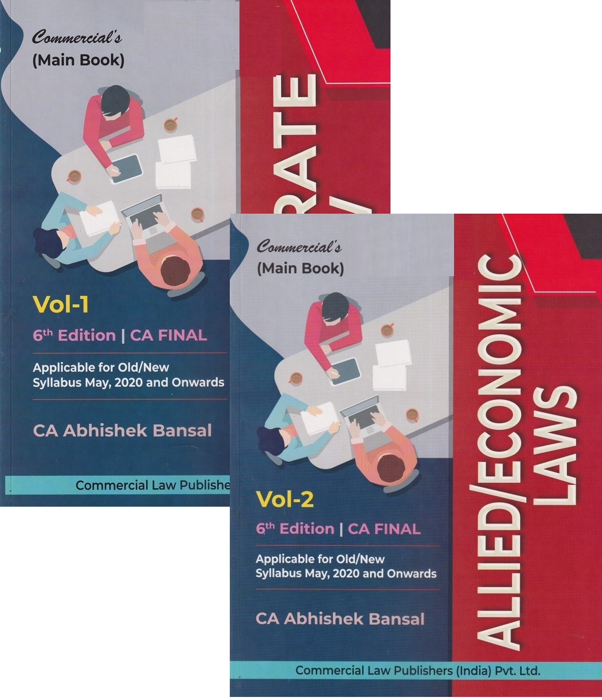 Commercial CA Final Corporate Economic & Allied Laws (Set of 2 Volume) Old and New Syllabus By Abhishek Bansal Applicable for May 2020 Exam
