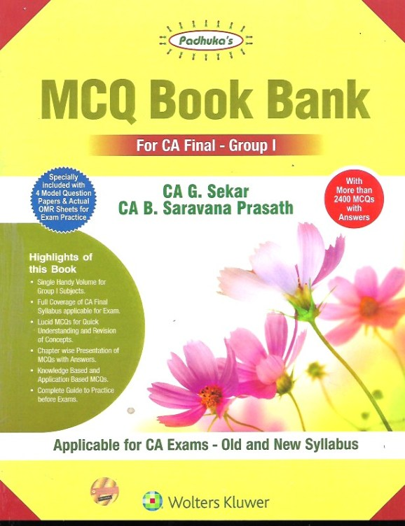 CCH Padhuka CA Final Group I MCQ Book Bank on Law and Audit Old & New Syllabus By G Sekar & B Sarvana Prasath Applicable for May 2020 Exam