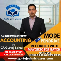 Gurtej Sahni's CA INTER ACCOUNTING pen drive