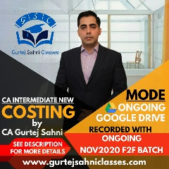 Gurtej Sahni's CA INTER COST AND MANAGEMENT ACCOUNTING GD