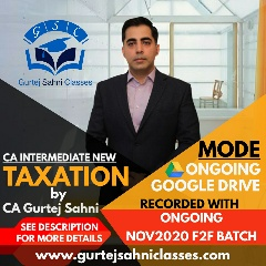 Gurtej Sahni's CA INTER INCOME TAX & GST GD
