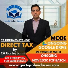 Gurtej Sahni's CA INTER INCOME TAX GD