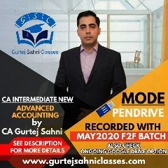 Gurtej Sahni's CA INTER ADVANCE ACCOUNTS PD