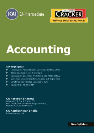 Taxmann Cracker CA Inter Accounting