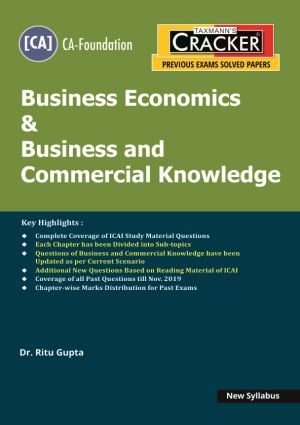 Taxmann Cracker CA foundation Business Economics & Business and Commercial Knowledge