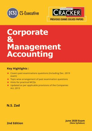 Taxmann Cracker CS Executive Corporate & Management Accounting