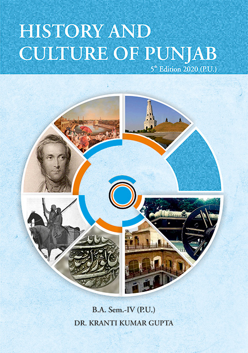 History and Culture of Punjab 18th and Early 19th Centuary for B.A. Sem.- IV by Dr. Kranti Kumar Gupta (Mohindra Publishing House) 4th Edition 2020 for Panjab University