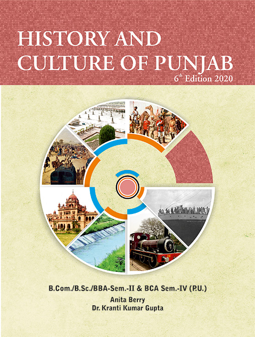 MPH History and Culture of Punjab for B.Com./B.Sc./BBA/BCA Semester-II (P.U.) by Anita Berry and Dr. K.K. Gupta (Mohindra Publishing House) Edition 2020