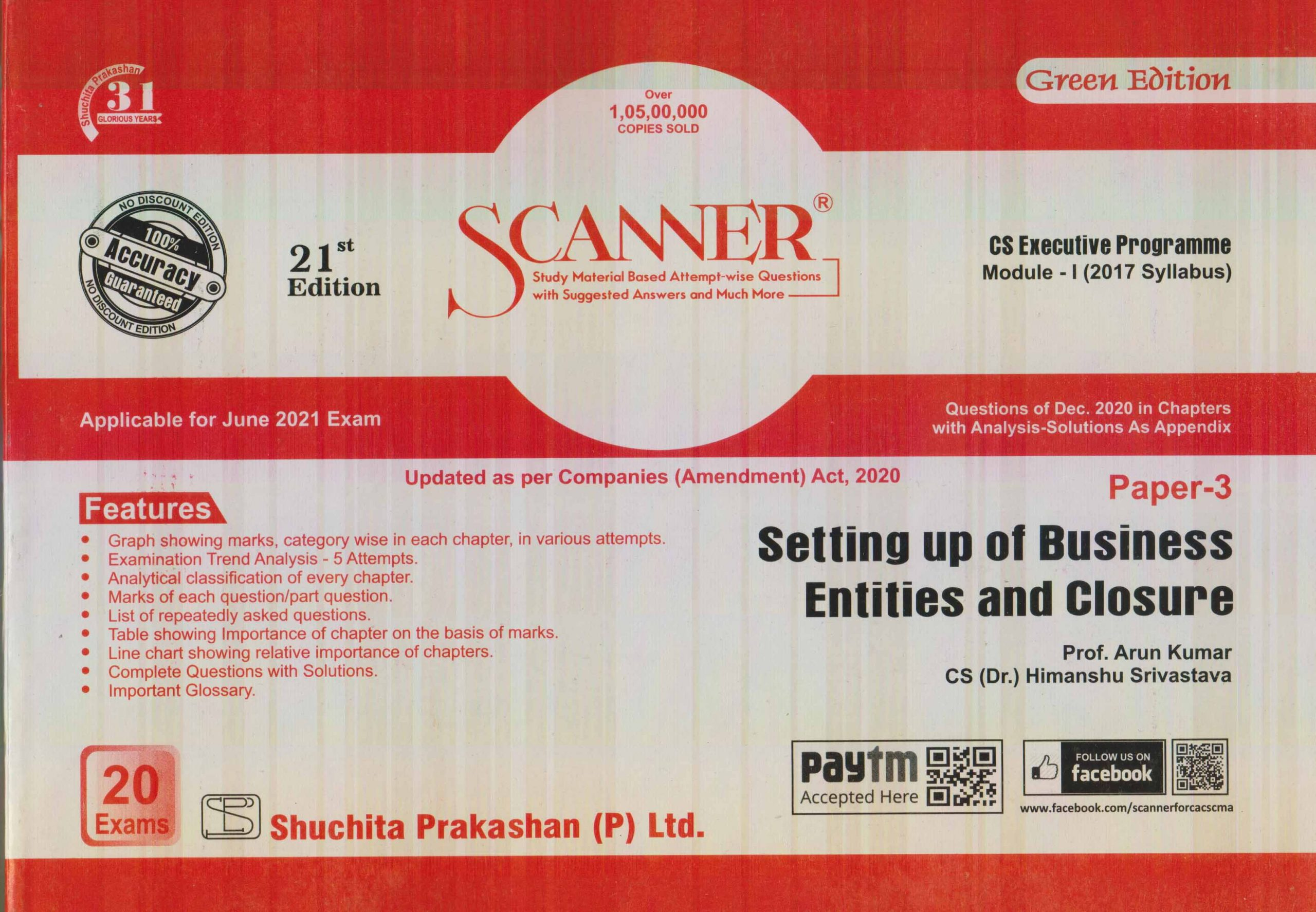 Shuchita CS Executive Programme Module-I Paper 3 Setting up of Business Entities and Closure (Shuchita Prakashan) for 2021 ATTEMPT