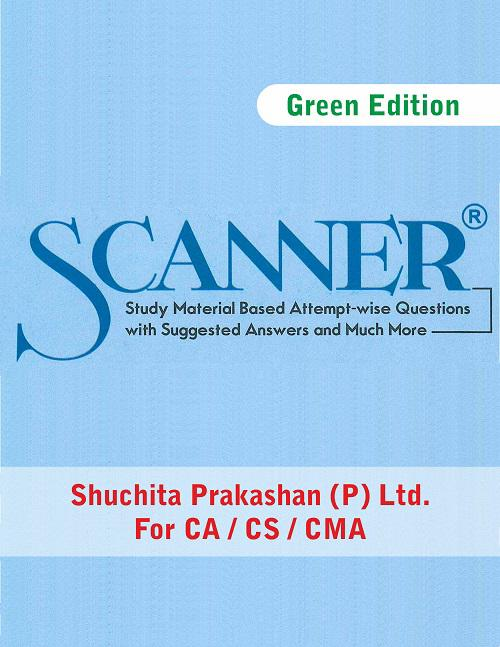 Shuchita CS Professional Programme Module-III (New Syllabus) Paper 9.3 Intellectual Property rights – laws and practices Solved Scanner (Shuchita Prakashan) for May June 2020 ATTEMPT