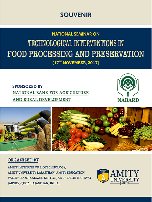 National Seminar on Technology Intervention in Food Processing and Preservation