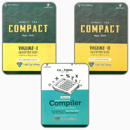 Combo COMPACT & Q/A Compiler Direct Tax for Old and New Syllabus both By CA Bhanwar Borana Applicable For 2021 Exam