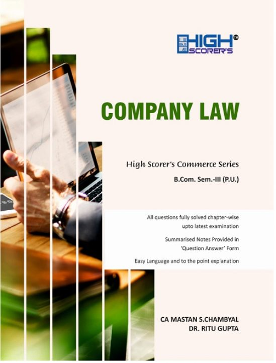 High Scorer's Company Law for B.Com. Semester-III by CA Mastan Singh Chambyal and Dr
