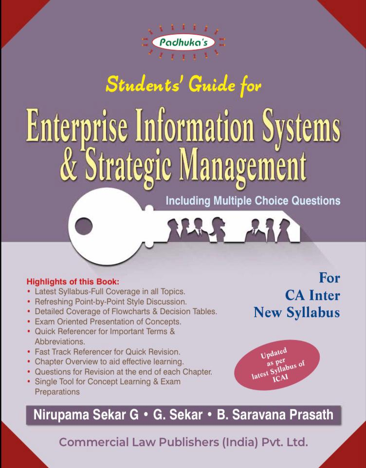 Padhuka Students' Guide for Enterprise Information Systems & Strategic Management by By Ca B Saravana Prasath Nirupama Sekar G Ca G Sekar Applicable for November 2020 exams(Commercial law publishers)