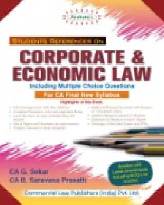 Padhukas Students Handbook on Corporate & Economic Law For CA Final New Syllabus by CA G. Sekar CA B. Saravana Prasath Applicable for nov 2020 Exam