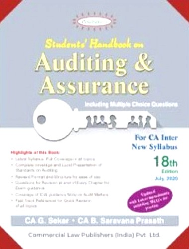 Padhuka's Students Handbook on Auditing & Assurance for CA Inter by G Sekar and Saravana Prasath Applicablefor Nov 2020 Exam