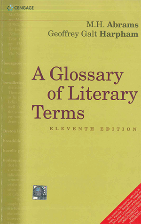 A Glossary of Literary Terms 11th Edition by M.H