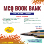 Padhuka CA Final Group I MCQ Book Bank on Law and Audit Old & New Syllabus By G Sekar & B Sarvana Prasath Applicable for Nov 2020 Exam