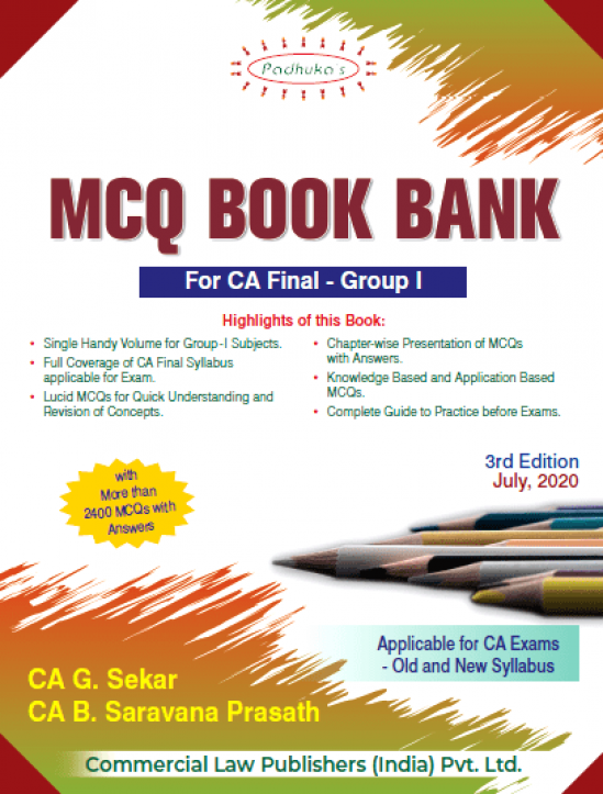 Padhuka CA Final Group I MCQ Book Bank on Law and Audit Old & New Syllabus By G Sekar & B Sarvana Prasath Applicable for Nov 2020 Exam 1