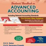 Padhuka Advance Accounting New Syllabus for CA Inter By G Sekar and B Sarvana Prasath (Commercial law Publishers) 2021