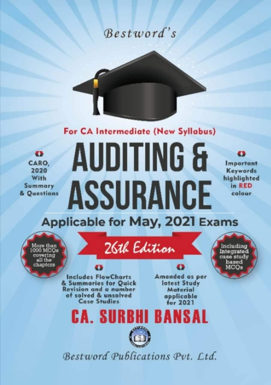 Bestword Auditing and Assurance for CA Intermediate (New Syllabus) by CA Surbhi bansal for 2021 Exam