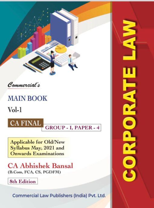 Commercial CA Final Corporate Economic & Allied Laws (Set of 2 Volume) Old and New Syllabus By Abhishek Bansal Applicable for 2021 Exam