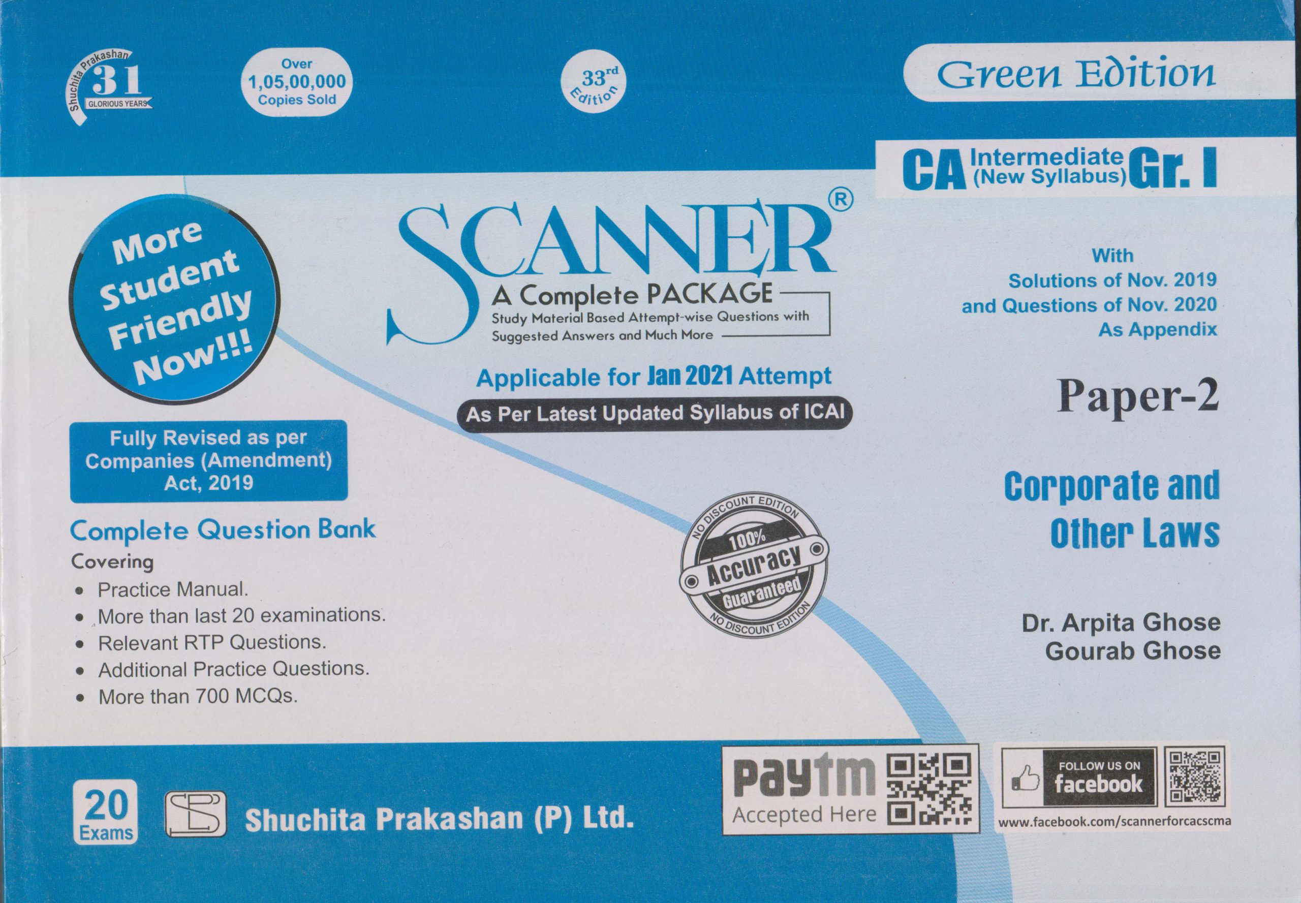 Shuchita CA Inter Group I Paper-2 Solved Scanner Corporate and Other Laws for May June 2021 ATTEMPT