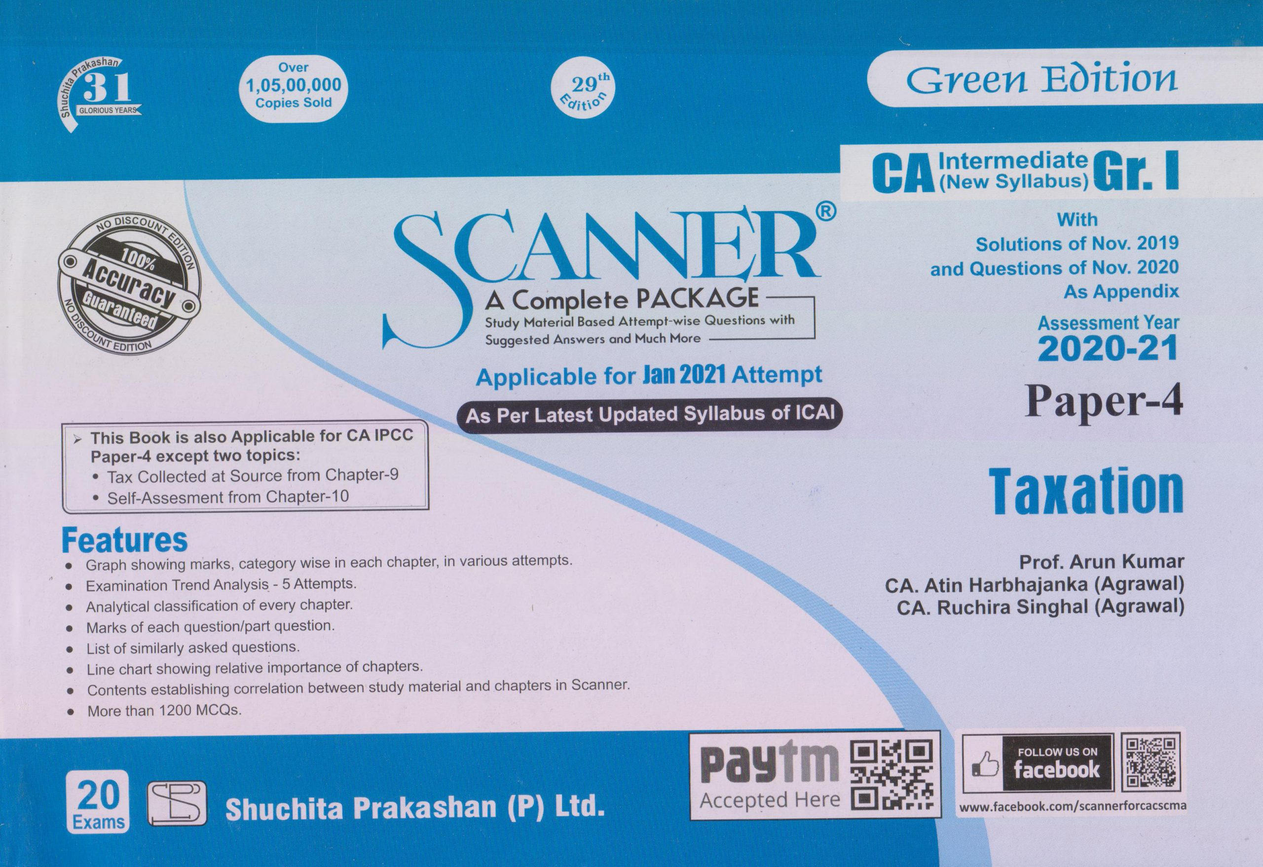 Shuchita CA Inter Group I Paper-4 Solved Scanner Taxation for May June 2021 ATTEMPT