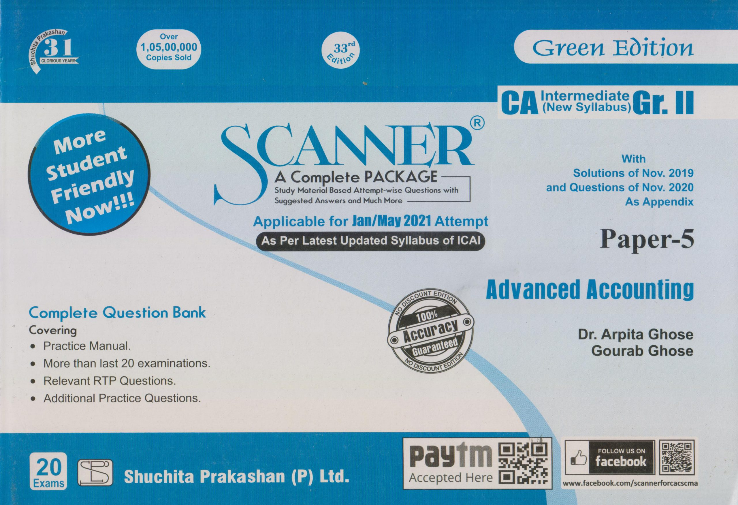 Shuchita CA Inter Group II Paper-5 Solved Scanner Advanced Accounting for May June 2021 ATTEMPT