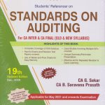 Padhuka Students Referencer on Standards on Auditing for CA inter & CA Final (old & new syllabus) By G. Sekar & B. Saravana Prasath Applicable For 2021 Exam