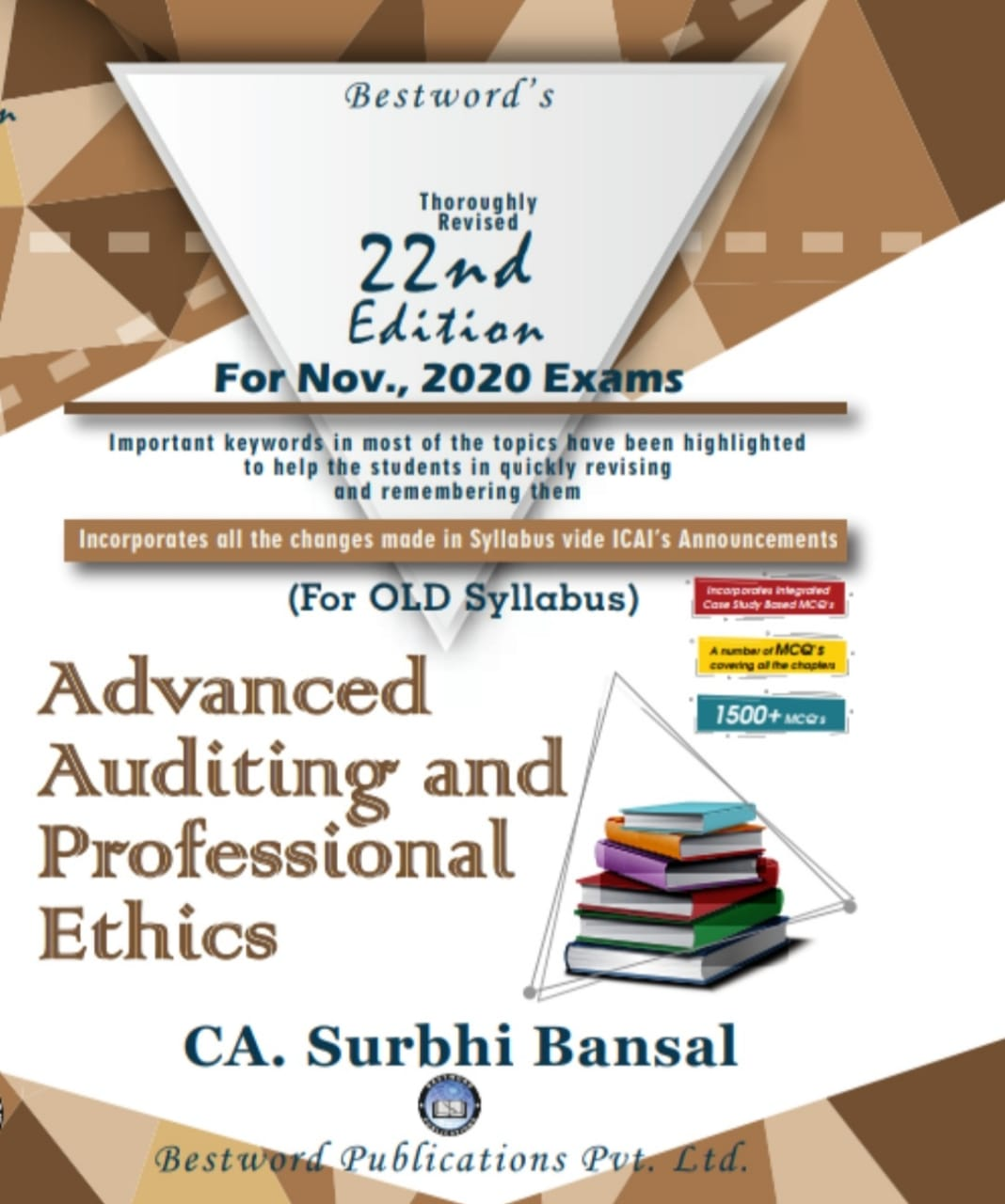 Bestword CA Final Advanced Auditing & Professional Ethics old Syllabus both By Surbhi Bansal (Bestword's Publishing) for November 2020