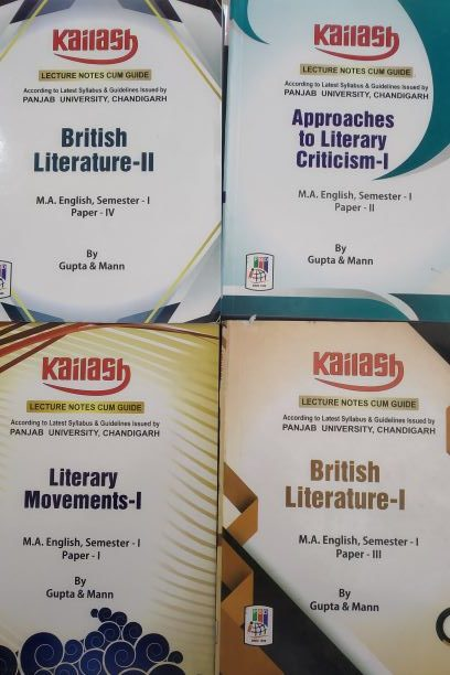 Kailash English Guide Literary movements -I for M.A. Sem. 1, (Paper I) Edition 2021